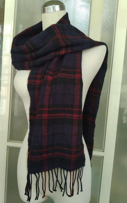 日本專櫃 無印良品 羊毛織花圍巾.
