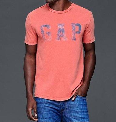 【天普小棧】GAP Worn logo crew t-shirt男生圓領短袖T恤 短T S/L號 現貨抵台