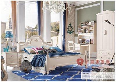 [紅蘋果傢俱] 806 兒童家具 兒童床組 公主床 單人床 雙人床 青少年床 床頭櫃 衣櫃 電腦書桌