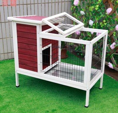 菠蘿petsfit室內實木兔籠子兔子窩舍雞籠小狗窩貓窩松鼠籠貓房兔用品