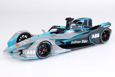 好物站點-迷你切118 FIA Formula E Gen2 ABB附帶人偶合金限量版 汽車模型-花語小屋