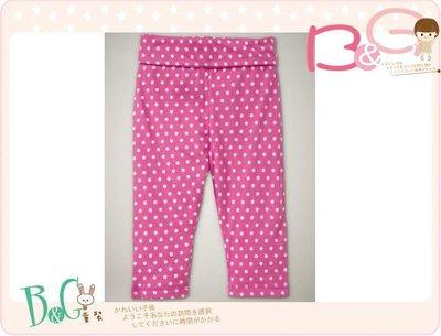 【B& G童裝】正品美國進口GAP Polka dot pants白色圓點粉紅色內搭長褲18-24mos