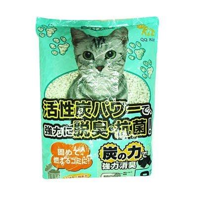 【🐱🐶培菓寵物48H出貨🐰🐹】日本環保紙貓砂》吸臭活性碳|咖啡|綠茶|變藍色紙砂8L 特價270元 免運限宅配