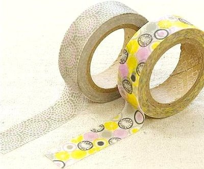 *YOOWOO*C【韓國 Decorate YOUR item 多功能裝飾 15mm 和紙膠帶 貼紙 ~ Promnade 散散步】一組2入