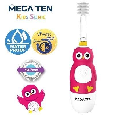 【魔法世界】Mega Ten幼童電動牙刷-貓頭鷹
