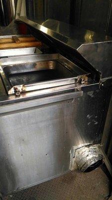 連鎖加盟店專用鍋貼煎餃專用煎台 附靜電機抽油煙專業設備