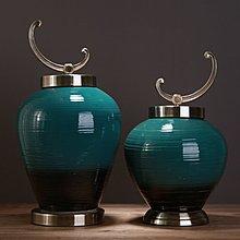 〖洋碼頭〗美式復古中式帶蓋陶瓷儲物罐電視櫃酒櫃玄關酒店客廳軟裝飾品 ysh182
