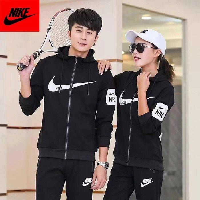 NIKE 耐克 新款情侶運動服 休閑裝 跑步運動兩件套裝