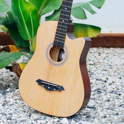 磨砂款木吉它378寸民謠吉他初學者學生男女新手入門練習琴jita樂器   全館免運