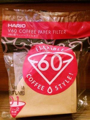 【多塔咖啡】HARIO V60錐形 無漂白濾紙 VCF-01-100M (1~2人) 圓錐濾紙VDC-01 濾杯可用