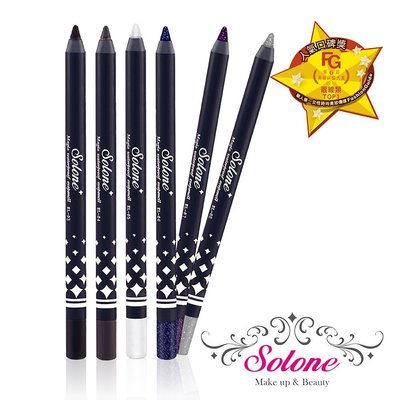 Solone~防水眼線膠筆1.5g(濃密黑/銀鑽黑/咖啡色/金鑽黑)4色可選【天使愛美麗】防水 防汗 抗油