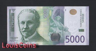 【Louis Coins】B1606-SERBIA--2010塞爾維亞紙幣,5000 Dinara