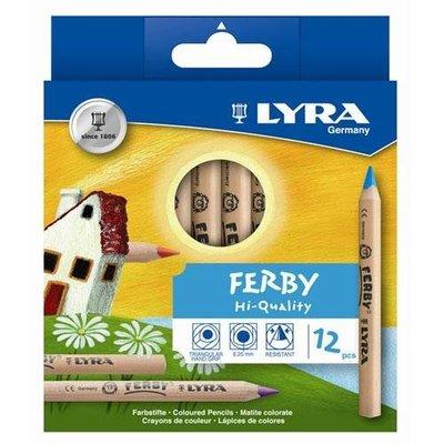 ☆【德國LYRA】三角原木色鉛筆(12cm)12色『特價,買就送削筆器