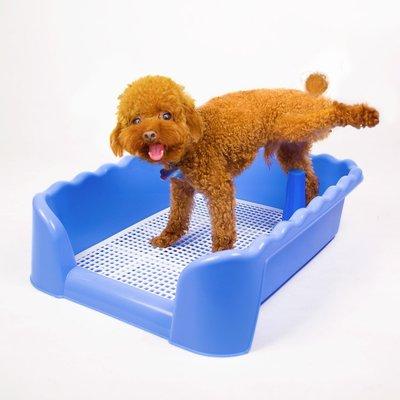 【優上精品】圍欄公母狗狗廁所泰迪比熊尿便盆樹脂寵物用品防噴濺(Z-P3222)