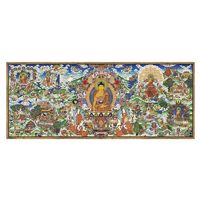 釋迦牟尼佛陀生平圖佛像畫 客廳背景牆 中式佛教唐卡裝飾挂畫