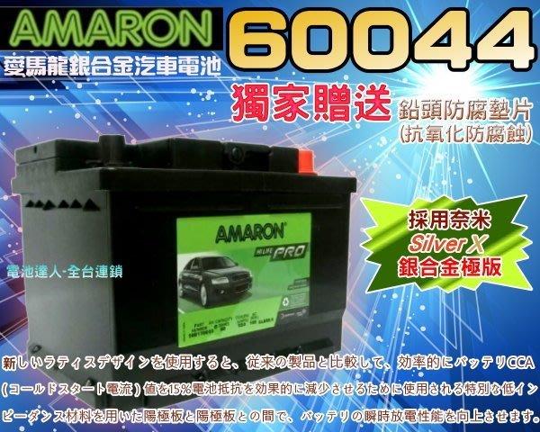 【電池達人】60044 愛馬龍 汽車電池 AUDI BMW ROVER VOLVO BENZ JAGUAR 賓士 路華