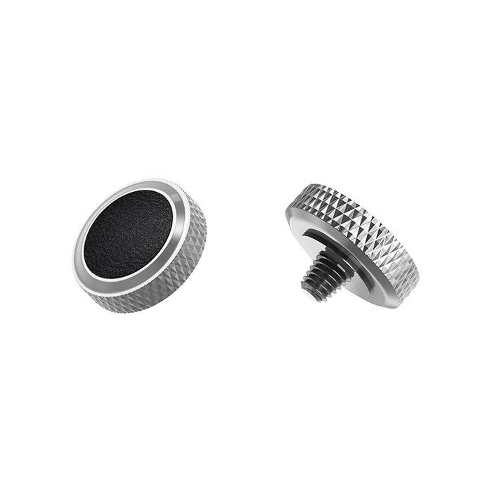 【傑米羅】JJC 機械相機 螺牙式 快門按鈕 增高鈕《純銅製 豪華版》(SRB-GR 銀框黑皮) - 帶防脫圈 防鬆脫