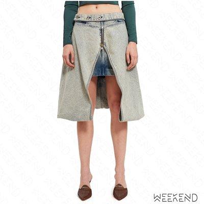 【WEEKEND】 DIESEL X SHAYNE OLIVER Blasphemous 聯名 牛仔 長短裙 假兩件