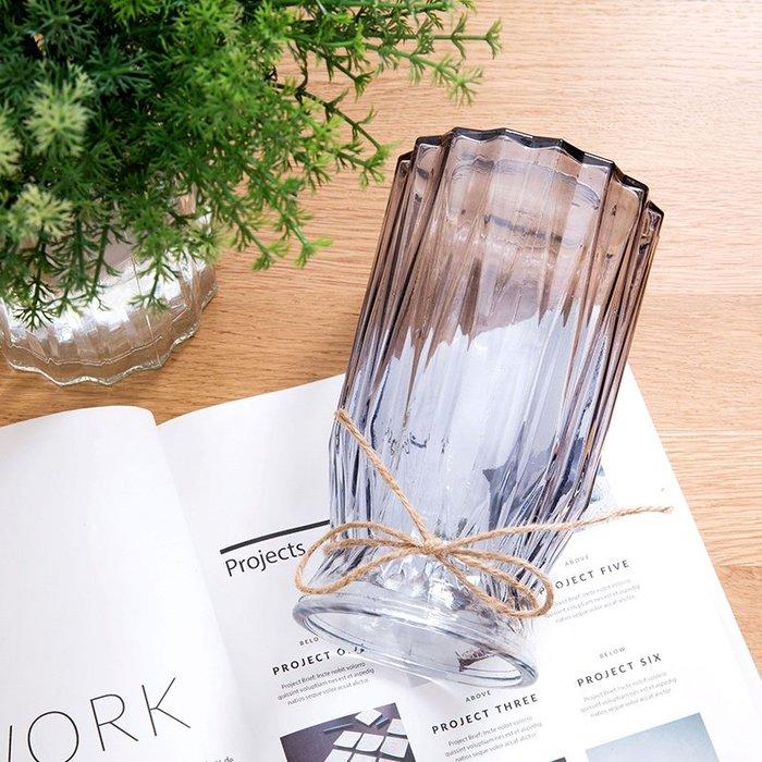 #創意 裝飾品 居家玻璃花瓶歐式簡約水養植物器皿玻璃瓶客廳擺件鮮花插花水培干花瓶