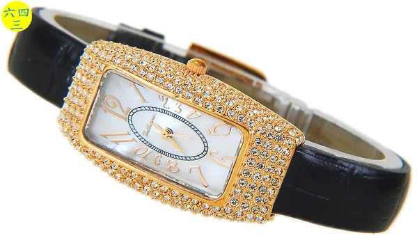 @(六四三精品)@BETHOVEN(真品)高檔精品圓鑽式鑽錶.設計師設計款!玫瑰金色!