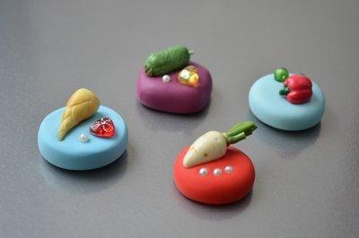 樂活蔬菜磁鐵 ~~ 樹脂土(黏土) 超輕土 手工 禮品 生日 教師節 聖誕節 畢業 禮物【Ot Craft House】