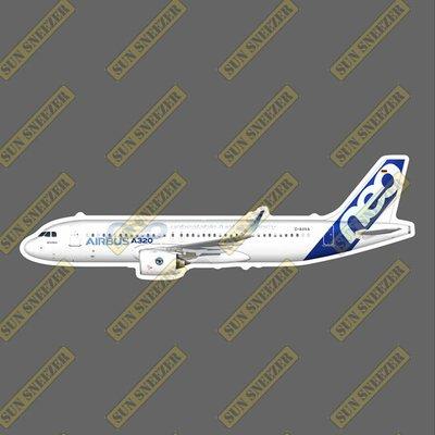 空中巴士 出廠塗裝 A320Neo 普惠引擎  擬真民航機貼紙 尺寸165mm