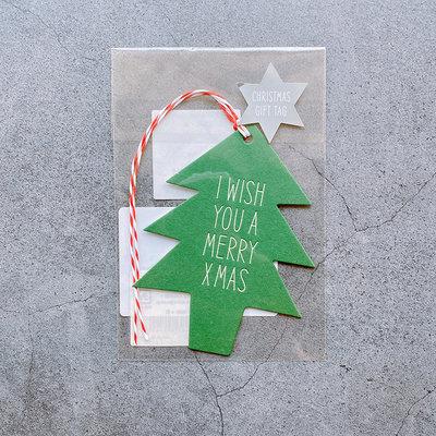 平常小姐┃全新┃日本【Active Corporation】聖誕裝飾吊卡 聖誕樹 日本製 禮品包裝 居家節日裝飾
