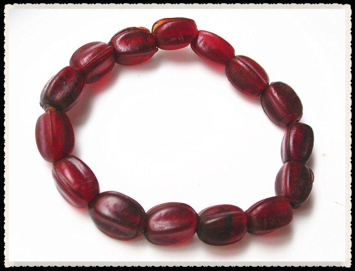 【雅之賞|藏傳|佛教文物】*特賣*尼泊爾古法老琉璃手珠~Q1585