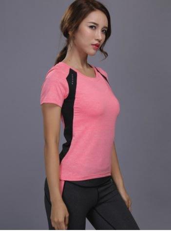 女 運動T恤 瑜珈 路跑 夜跑 休閒 健身 速乾 吸濕排汗 #C09-W105
