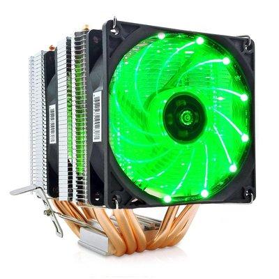 冰曼-流光M-X6 6銅管/雙風扇/雙塔/LED燈 3色可選.INTEL.AMD通用