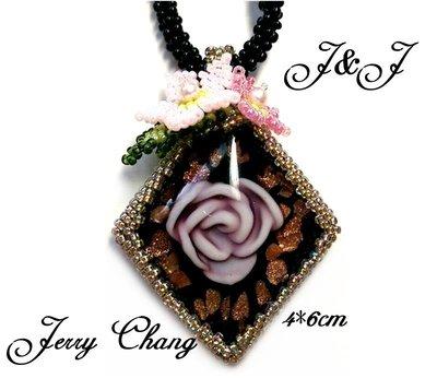 J&J精品~Alinka珠寶編織水晶珍珠玫瑰金箔琉璃古典項鍊