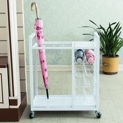 【優上】雨傘架酒店大堂 鐵藝公司學校收納架雨傘桶「白色」