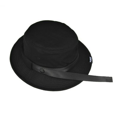【 PUNX 】PUNX 19SS BLACK SPLICE HAT 黑工裝拼接長條漁夫帽