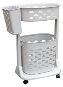 315百貨~清潔衛生~ 新生活衣物分類架(附輪) F01 F-01 / 洗衣籃 置物籃 整理籃 雙層洗衣分類車