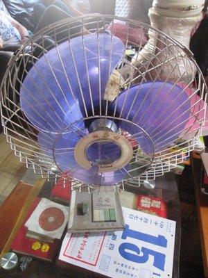 早期 古董順風白鐵溫度計電風扇
