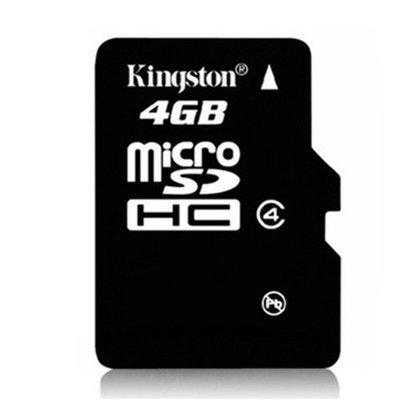 金士頓4G手機記憶卡MICRO儲存SD卡TF4G平板音箱唱戲機內存4GWL63