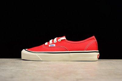 [ HOPE ] VANS ANAHEIM FACTORY Authentic 44 DX  休閒 紅色 帆布鞋 經典