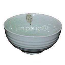 陶瓷餐具日式韓式大碗麵碗手繪樹葉7吋羅紋麵碗 3個