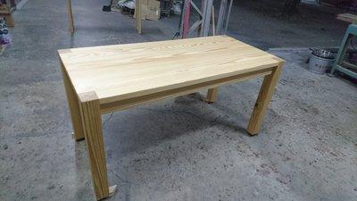 E002{崙頂傳統原木家具行}~杉木實木簡單桌  歡迎訂製尺寸