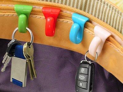 ~YAMMIE SHOP~兩枚入 掛的找得到 包包內掛鉤 包包整理掛夾 隱形夾 收納夾(ZSD11)