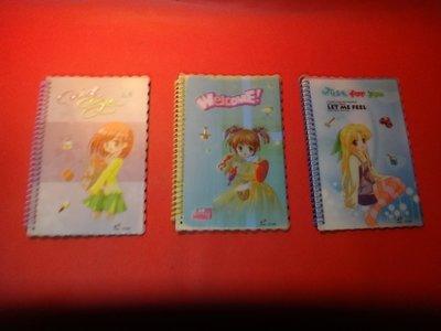 【愛悅二手書坊 CD-21】可愛少女隨身筆記本(3本)
