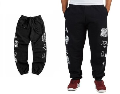 { POISON } SKETCHY TANK RESTLESS SWEATPANTS 西岸惡趣味黑暗風格 棉褲