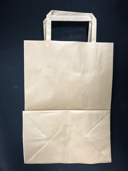 【無敵餐具】方扁繩紙加厚提袋(20*28*12cm)1箱500入 麵包提袋/餐點提袋 餐廳歡迎電聯洽詢喔【HJ3-04】