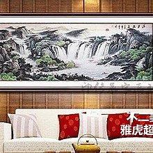 國畫山水畫聚寶盆 辦公室山水客廳裝飾風水畫六尺已裝裱Lc_685