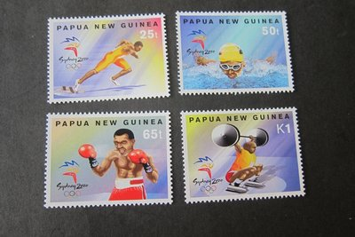 【雲品】巴布亞新幾內亞Papua New Guinea Sc 992-995 Spots set MNH