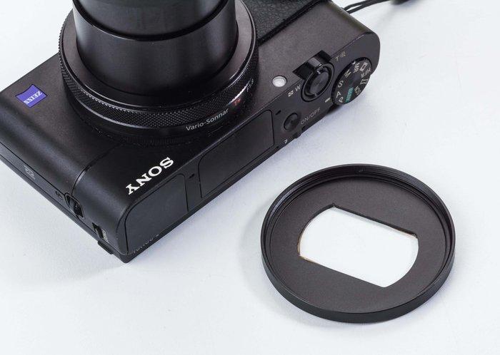 呈現攝影-SONY RX100用濾鏡轉接環 轉成52mm口徑 上廣角鏡 UV CPL ND M5 M6 M4 似LA-5