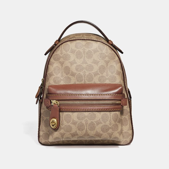 Coco小舖COACH 32715 Campus Backpack 23 In Signature Canvas小後背包