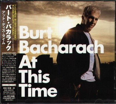 (甲上唱片) Burt Bacharach - At This Time - 日盤