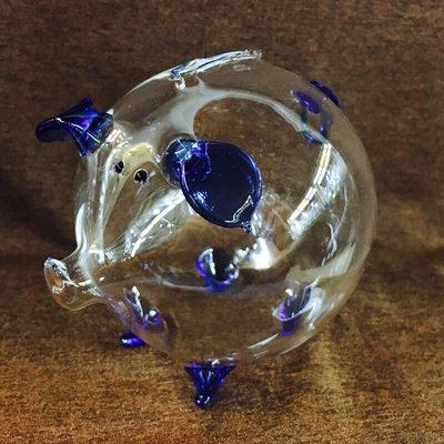 (大)水晶玻璃 存錢豬 存錢筒 玻璃存錢筒《新中玻璃》