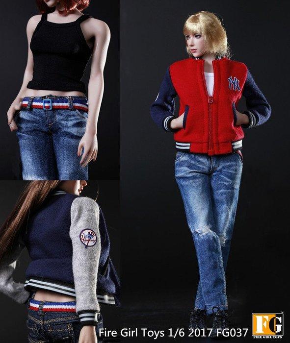 James roomFire Girl Toys 1/6 FG037 三色 全系女素體棒球服運動套裝